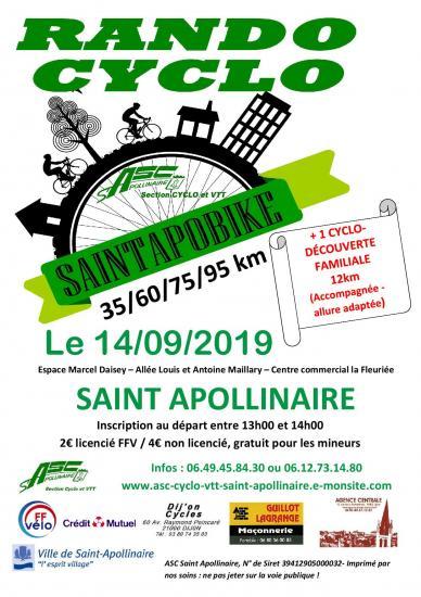 Affiche cyclo saintapobike 2019 1