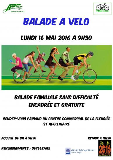 Flyer pedale douce 16 mai 16